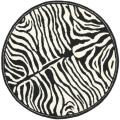 Handmade New Zealand Wool Zebra Black and Ivory Rug (6' Round)