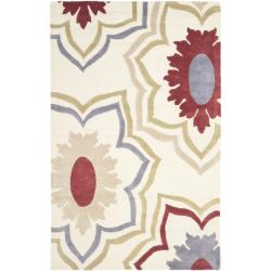 Safavieh Handmade Memories Ivory New Zealand Wool Rug (7'6 x 9'6)
