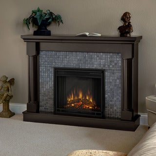 Real Flame Bennett Dark Walnut Electric Fireplace