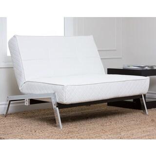 Abbyson Living Venice White Convertible Euro Sleeper Chair Lounger