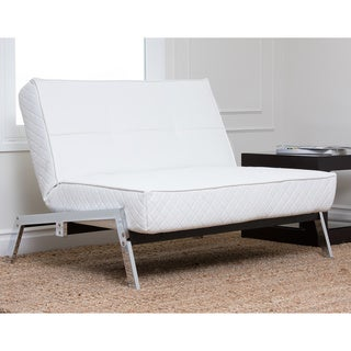 Abbyson Living Venice White Convertible Euro Chair Lounger