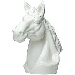 Red Vanilla White Stallion Horse Head