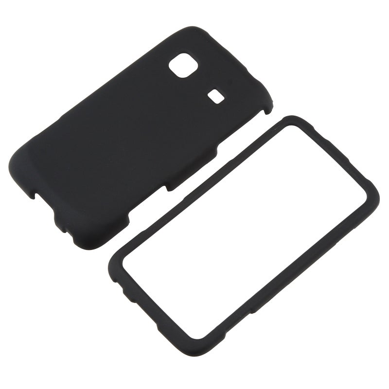 Black Snap-on Rubber Coated Case for Samsung Galaxy Prevail SPH-M820