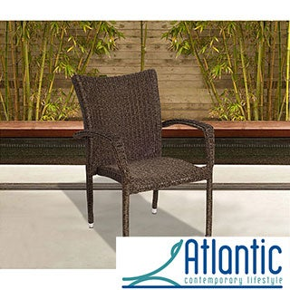 Atlantic Catania Wicker Stacking Armchair (Set of 4)