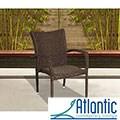 Atlantic Catania Wicker Stacking Armchair (Set of 4)