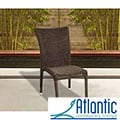 Atlantic Catania Wicker Stacking Chair (Set of 4)