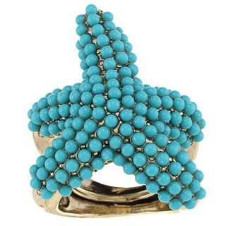 Kenneth Jay Lane Beaded Starfish Ring
