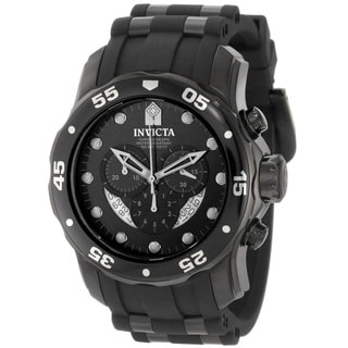 Invicta Men's 6986 'Pro Diver' Black Polyurethane Watch