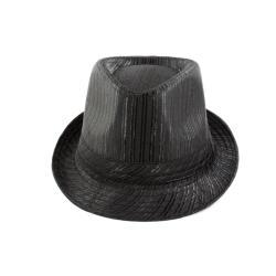 Faddism Textured Black Fedora Hat