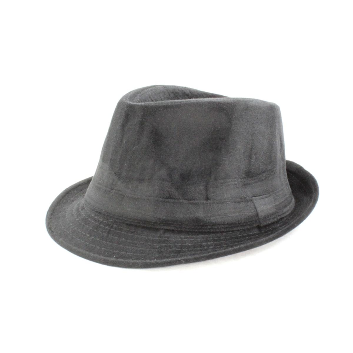 Faddism Dark Grey Banded Fedora Hat