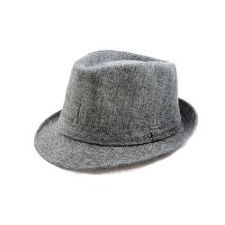 Faddism Men's Grey Fedora Hat