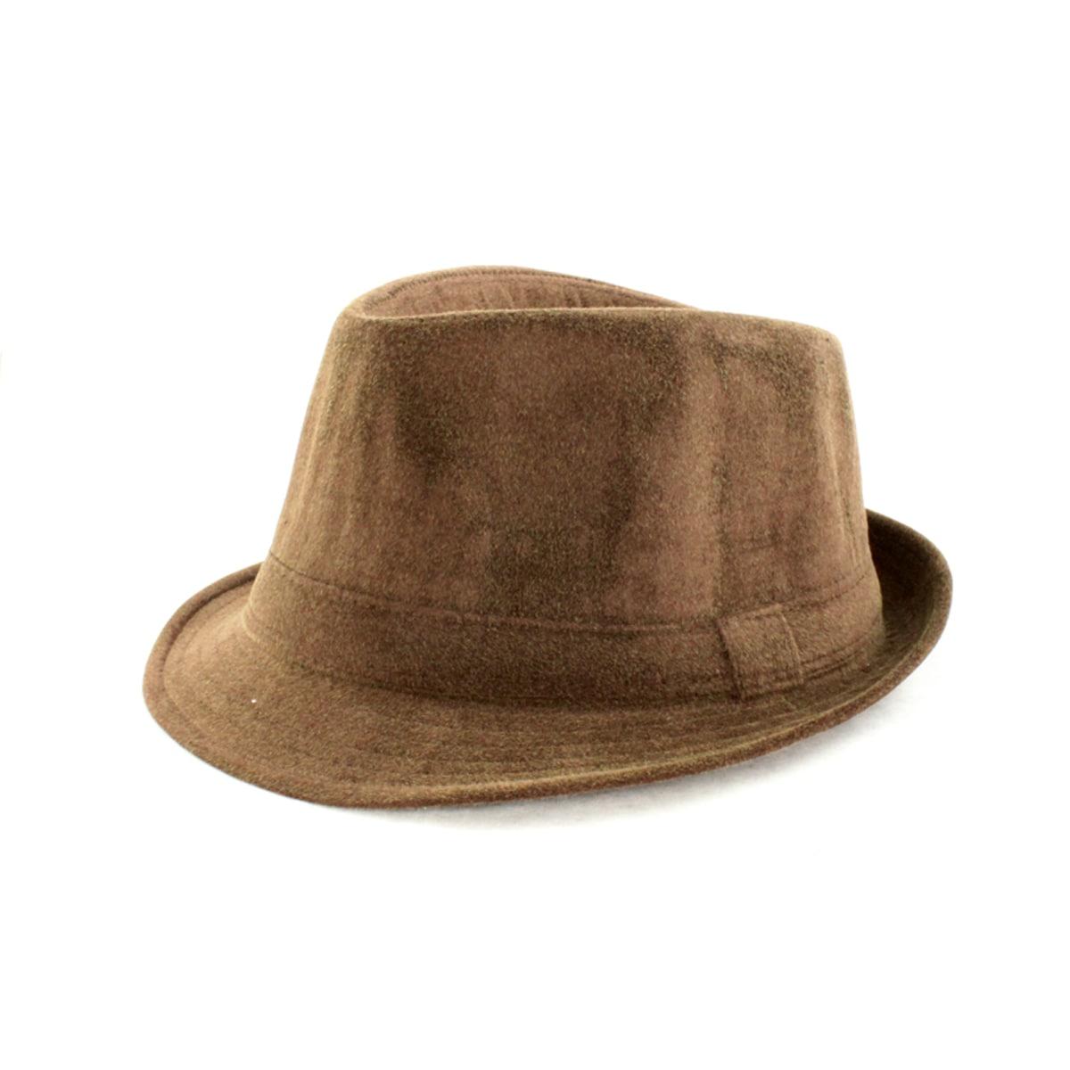 Faddism Brown Fedora Hat