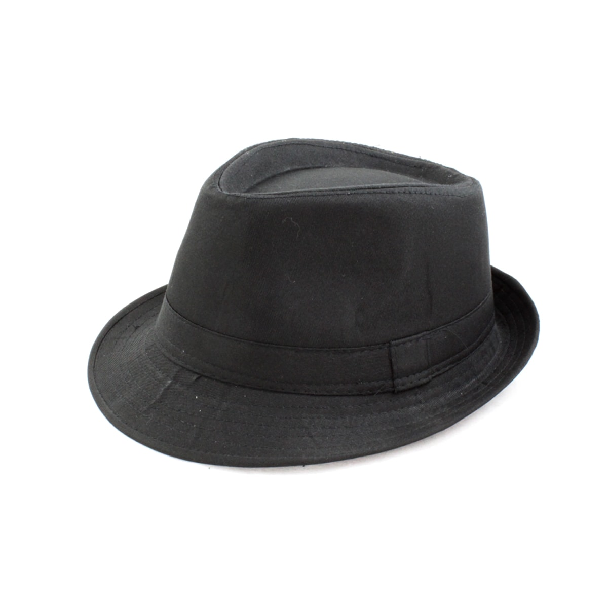 Faddism One-size-fits-most Banded-detail Black Flax Fedora Hat