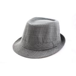 Faddism Grey/ White Fedora Hat