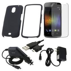 Black Case/ Screen Protector/ Chargers/ Cable for Samsung Exhibit i515