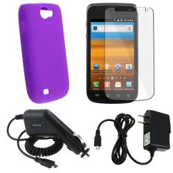 Purple Case/ LCD Protector/ Chargers for Samsung Exhibit i515