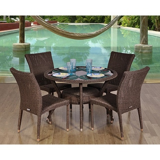 Atlantic Atlantic Catania Round Wicker 5-Piece Dining Set