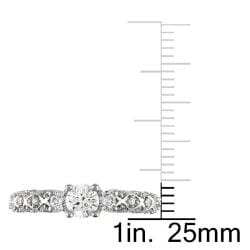 Miadora 14k White Gold 3/4ct TDW Diamond 3-stone Ring (G-H, I1-I2)