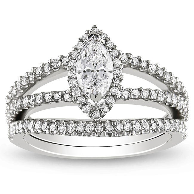 Miadora 14k White Gold 1ct TDW Diamond Bridal Ring Set (G-H, I1-I2) at Sears.com