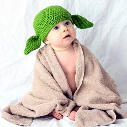 Knitnut by JL Child's Cotton Crocheted Green Goblin Hat