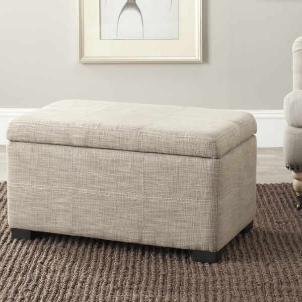 Safavieh Madison Grey Viscose Indoor Storage Bench