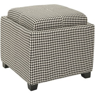 Safavieh Broadway Single Tray Hounds Tooth Storage Ottoman