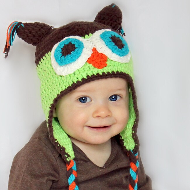 Knitnut by JL Handmade Childs Cotton Crocheted Owl Hat - 14063007 ...