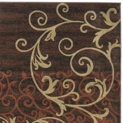 Timeless Fashion Scrolls Extra Fine Rust Rug (8' x 10')