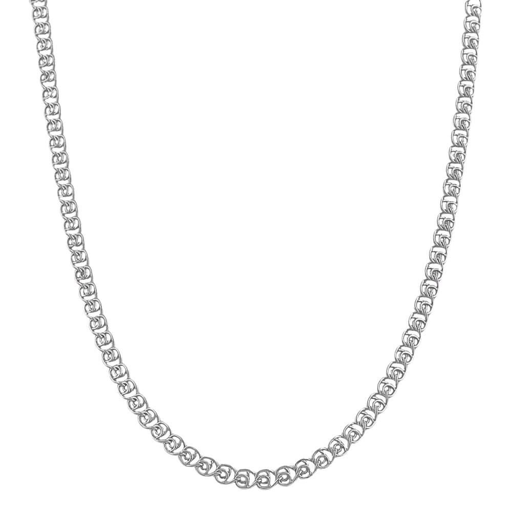 Fremada Rhodium Plated Silver 2.7 mm Love Chain (16-inch)