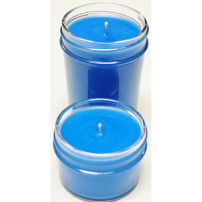 Southern Made Candles Blue Jelly Jar Soy Candles (Set of 2)