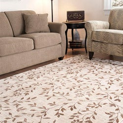Timeless Fashion Ferns Extra Fine Ivory Rug (8' x 10')