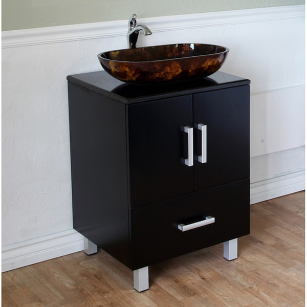 Black 22 Inch Birch Wood Single Bathroom Vanity And Sink 14063054