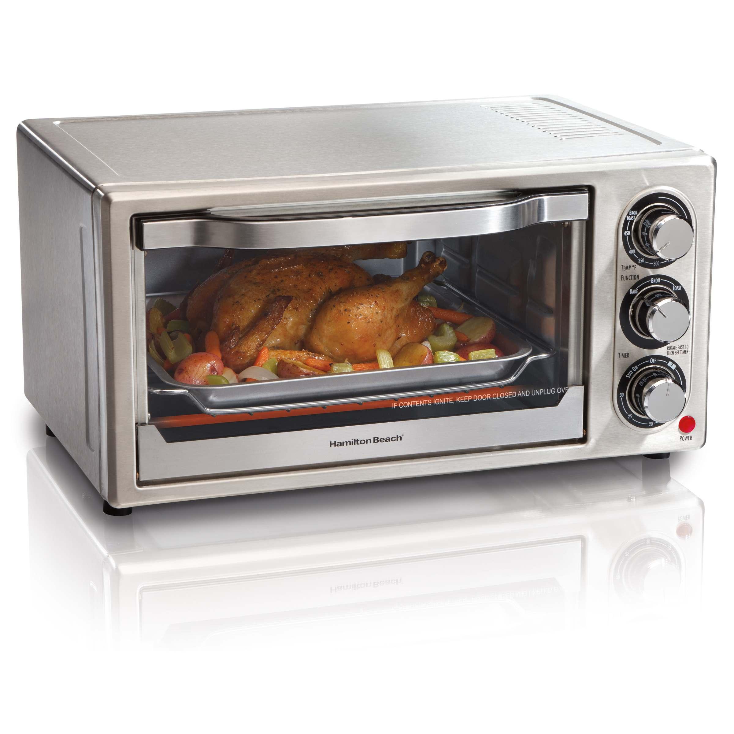 Countertop Oven Toaster : Hamilton Beach Stainless Steel 6-slice Toaster Oven - Overstock ...