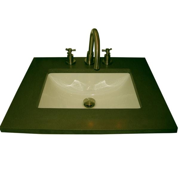 Somette Ceramic 20-inch Undermount Biscuit Bathroom Sink