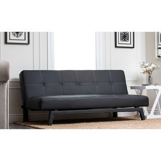 Abbyson Living Ashlyn Black Convertible Sleeper Futon Sofa