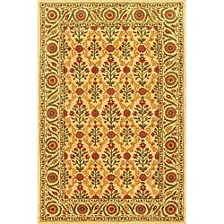 Hand-Tufted 'Everest Garden' Cream Wool Rug (8'6 x 5'6)