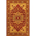 Hand-Tufted 'Royal Serapi' Red Wool Rug (8' x 5')