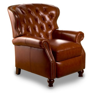 Cambridge Leather Recliner in Mayfield Cognac
