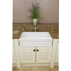 Somette Fireclay Lichfield 28.75-inch Farmhouse Kitchen Sink