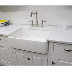 Somette Fireclay Butler Large 29.5-inch Kitchen Sink