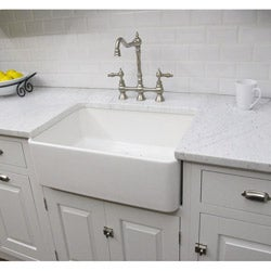 Fireclay Sutton 23.25-inch White Farmhouse Kitchen Sink
