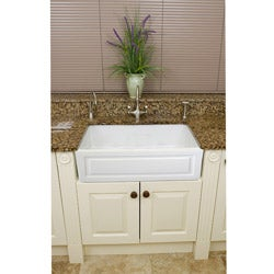Somette Fireclay French 29-inch White Farmhouse Kitchen Sink