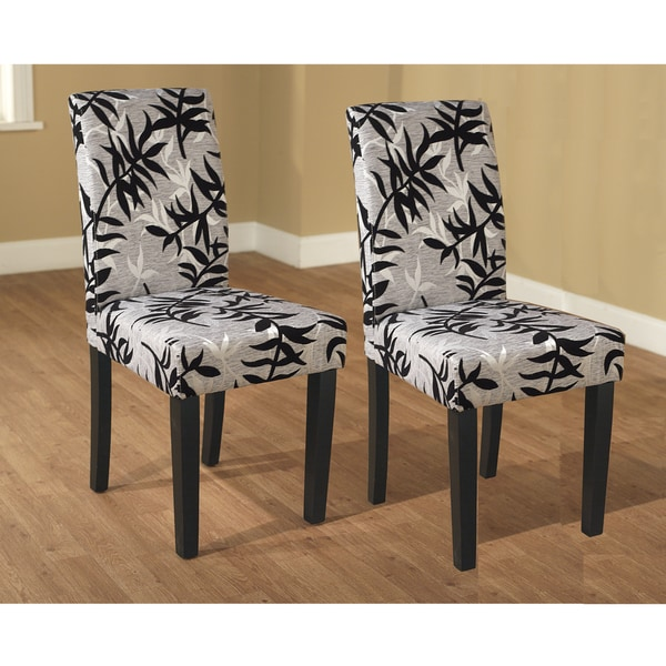 dining chairs have black and silver print design update your dining