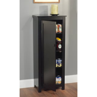 Black 46-inch Tall Wood Food Storing Pantry