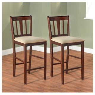 Simple Living Stratton Rubber Wood 24-inch Stools (Set of 2)