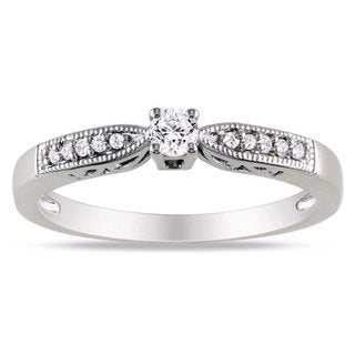 M by Miadora Sterling Silver 1/6ct TDW Round Diamond Ring (H-I, I2-I3)