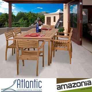 Amazonia Teak Savannah 7 piece Teak Dining Set Overstock
