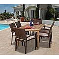 Charlotte 7-piece Teak/ Wicker Dining Set