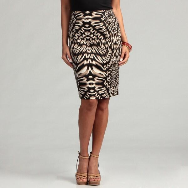 Calvin Klein Women's Printed Pencil Skirt