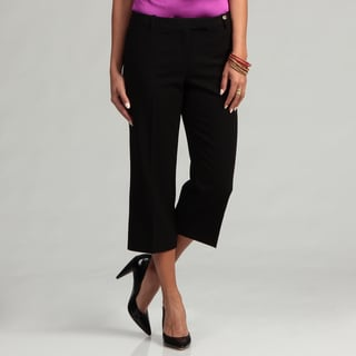 Calvin Klein Women's Black Cropped Madison Pants FINAL SALE